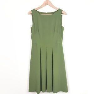 ANN TAYLOR Pleated Skirt A-Line Career Dress